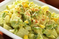 This Japanese-inspired potato salad with Fresh California Avocados is creamy and delicious, with a kick of heat from Kikkoman Wasabi Sauce. Wasabi Recipes, Avocado Recipes, Salad Recipes, Vegan Recipes, Avocado Guacamole, Avocado Salad, Southern Style Potato Salad, Potato Dishes, Recipe Details