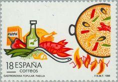 切手: Gastronomy. Paella (スペイン) (Tourism) Mi:ES 2816,Yt:ES 2551,Edi:ES 2935