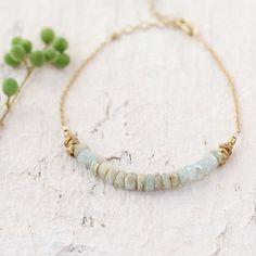 Stone & Gold Bracelet