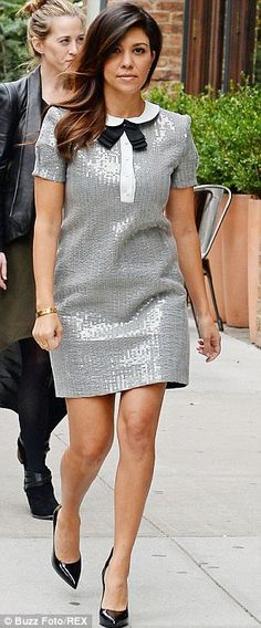 Girl's got it! Kourtney Kardashian has a look all of her own