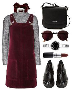 """""""Velvet & Chokers"""" by the-messiah ❤ liked on Polyvore featuring T By Alexander Wang, Topshop, Fallon, Stuart Weitzman, Lancaster, Seiko, Ray-Ban and MAC Cosmetics"""