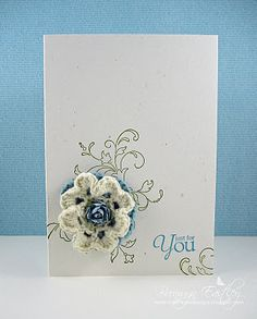 A CAS Card and some Crochet by BronJ - Cards and Paper Crafts at Splitcoaststampers