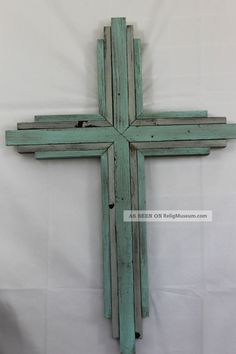 Large Wooden Rustic Wall Cross From Reclaimed Wood,  Elegant - 33