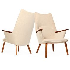 lounge chairs by Hans J. Wegner | From a unique collection of antique and modern lounge chairs at https://www.1stdibs.com/furniture/seating/lounge-chairs/