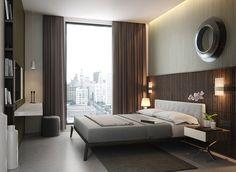 dormitorio para solteros luminoso y elegante