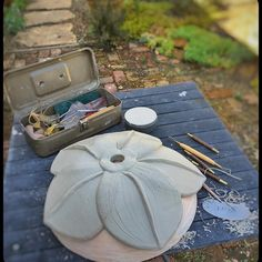 ceramics outside on a beautiful day. Looks like this is turning out to be another totem base by lisakaebee