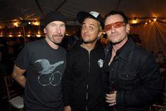 Bono, The Edge and Billy Joe
