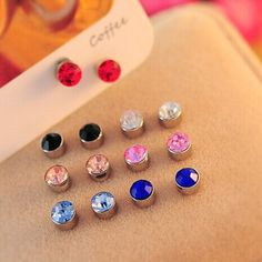 Sweet Candy Color Round Zirconia CZ Diamond Ear Cuff Jewelry Clip On Earring for Women Girls Cartilage Non Pierced♦️ B E S T Online Marketplace - SaleVenue ♦️👉🏿 http://www.salevenue.co.uk/products/sweet-candy-color-round-zirconia-cz-diamond-ear-cuff-jewelry-clip-on-earring-for-women-girls-cartilage-non-pierced/ US $0.41