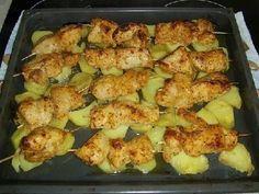 Куриный шашлык с картошкой в духовке   Школа вкуса  - вкусные кулинарные рецепты