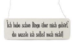 ICH HABE SCHON DINGE Vintage Schild Shabby Holz von Interluxe via dawanda.com