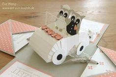 www.zeit-zum-basteln.de - Explosion-Box zur Hochzeit - Cabrio mit Ehe-Eulen (Stampin Up)