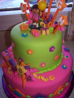 Dora the Explorer Cake so want to do this for my baby's 2nd birthday