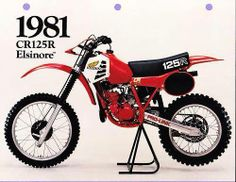1981 - Honda CR125R Elsinore: The first year for liquid cooled engines.
