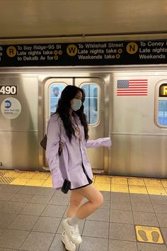 @kryxsoo wearing Preppy Skirt (Black) #newyork #ootd #outfits #shirts #skirts #tennisskirt #preppyskirt #miniskirt #schoolskirt #schoolgirl #nyc Preppy Skirt, Nyc Life, Ootd, Summer Aesthetic, Korean Aesthetic, City Girl, Preppy Style, Cute Fashion, Daily Fashion
