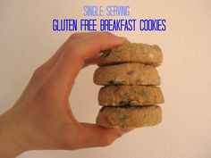 Single Serving Gluten Free Breakfast Cookies paleo dessert single serve