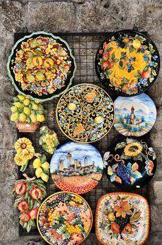 San Gimignano - Tuscany Hand-painted ceramics