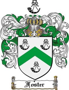 Foster Family Crest / Coat of Arms www.4crests.com #coatofarms #familycrest…