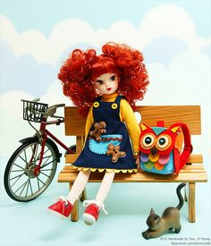 Owl Backpack Licca replica doll by Dressy Doll
