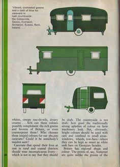 """""""Paint Your Wagon"""" 1970 article on color schemes for RVs and campers"""