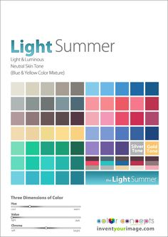 light summer palette