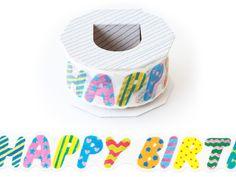 マスキングテープ カタヌキ (MTK-11) : happy birthday|いろは出版公式通販サイト TONARY(トナリー)