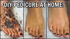 Pedicure Tips, Foot Pedicure, Pedicure At Home, Best Foot Scrub, Diy Foot Soak, Tan Removal, Soft Feet, Diy Scrub, Feet Care