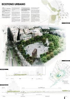 Estas son las propuestas que compiten para remodelar la Plaza España en Madrid,Ecotono Urbano. Image © Difusión Ayuntamiento de Madrid