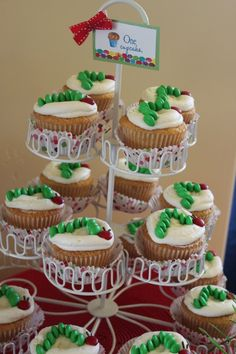 Hungry Caterpillar Cupcakes.