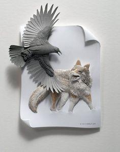 Calvin Nicholls Paper Sculpture.