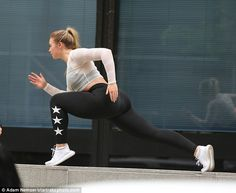 She's revealed that she maintains her phenomenal figure through an intense exercise regime. And Iskra looked in great spirits as she worked up a sweat while shooting a workout video in Manhattan.