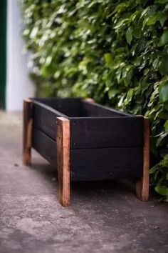 Diy Pallet Projects, Diy Wood Projects, Outdoor Projects, Wood Pallet Planters, Outdoor Planters, Outdoor Decor, Backyard Garden Design, Patio Design, Wooden Plant Stands