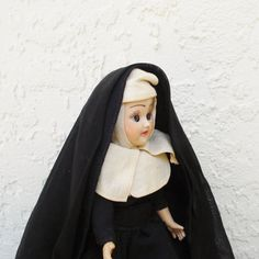 Vintage Nun Doll / Small Hard Plastic Doll / by AlegriaCollection, $20.00