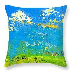 "Abstract Landscape No 8 Throw Pillow 14"" x 14"" #throwpillow #homedecor"