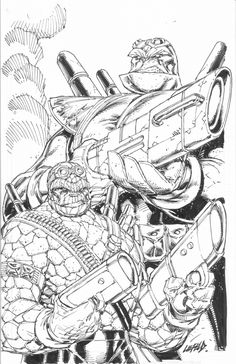 Badrock / Thing Commission by Rob Liefeld, in Craig Devena's Rob Liefeld- Comic Art Gallery Room Cool Sketches, Drawing Sketches, Drawings, Comic Book Characters, Comic Books, Fictional Characters, Rob Liefeld, John Byrne, Image Comics