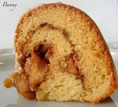 """Old Fashioned Sour Cream Cake with Apple-Nut Filling This cake is """"get it away from me before I eat the whole thing"""" good! A delicious sour cream cake with a homemade apple nut filling baked in a bundt pan."""