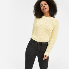 Ordered these. Authentic stretch skinny jeans in washed black from Everlane Modern Essentials, Jean Outfits, Black Jeans, Skinny Jeans, Style Inspiration, Pullover, Model, How To Wear, Shopping