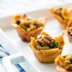 Try these Greek baklava cups with the perfect combo of crunchy pistachios and sweet honey!