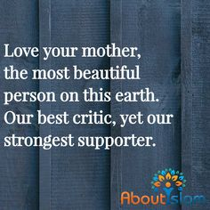 Have you given your mom a hug today? If you can, you should.
