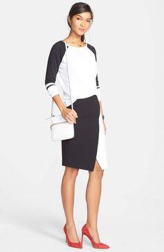Halogen® Colorblock Faux Wrap Skirt at Nordstrom.com