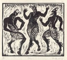 Image result for satry linocut