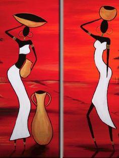 diptico Surfboard Painting, African Art Paintings, Lampe Decoration, Wall Art Wallpaper, Madhubani Art, Art Africain, Africa Art, Human Art, Art Festival