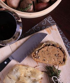Olives for Dinner | Vegan Recipes and Photography: Shallot and Shiitake Seitan Wellington