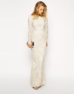 If I wern't already married, I would have found my wedding dress <3 Needle & Thread Lace Petal Maxi Dress
