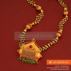 #Designed with love and care, #beauteous #traditional #gold #mangalsutra from our all new collection.