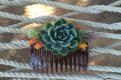Wear this cool and unique live succulent hair comb at your wedding or any special event when you want to make a statement! Style your Hair w/ a Succulent Comb S