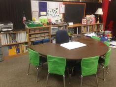 teaching table 3rd Grade Classroom, New Classroom, Teaching Tables, Teaching Profession, Conference Room, Furniture, Home Decor, Decoration Home, Room Decor