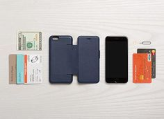 Picture of Bellroy Phone Wallet in blue steel for iPhone 6/6S