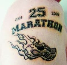 Proud of running 25 Marathons, great effort. Smokin' hot jogger.