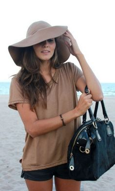 Fantastic Summer Look!  I have been in love with loose, flow-y shirts for a while... It looks so adorable with some shorts and a sunhat!