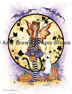 """Amy Brown: Fairy Art - The Official Gallery - Halloween """"Kitty Costume"""""""